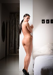 Athina Nude In A White Bedroom - Picture 2