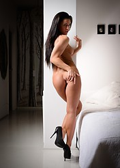 Athina Nude In A White Bedroom - Picture 12