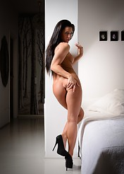 Athina Nude In A White Bedroom - Picture 13